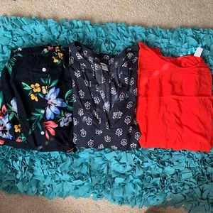 lot of 3 Old Navy NWT shirt red shirt romper